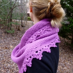 Black Raspberry Shawl Crochet Pattern by Darleen Hopkins