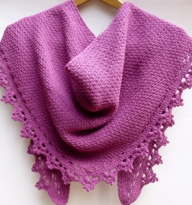 Crocheted Shawl Pattern, Black Raspberry by Darleen Hopkins