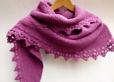 Black Raspberry Shawl Crochet Pattern by Darleen Hopkins
