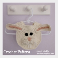 Bunny Drool Bib crochet pattern by Darleen Hopkins