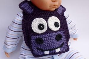 Hippo Drool Bib crochet pattern by Darleen Hopkins