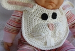 Bunny Rabbit Drool Bib crochet pattern by Darleen Hopkins