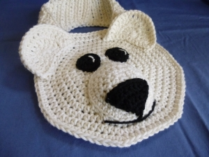 Polar Bear crochet bib pattern