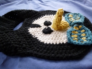 Penguin Crochet Bib Pattern