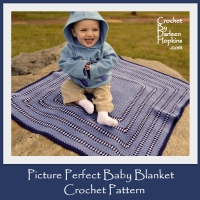 Crochet pattern, baby blanket Picture Perfect