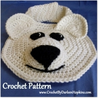 Polar Bear Drool Bib Crochet Pattern