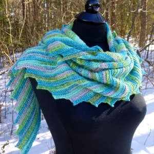 Whispers Shawl crochet pattern by Darleen Hopkins