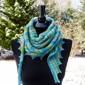 Shawl or scarf crochet pattern by Darleen Hopkins