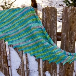 Shawlette or Shawl crochet patternn by Darleen Hopkins
