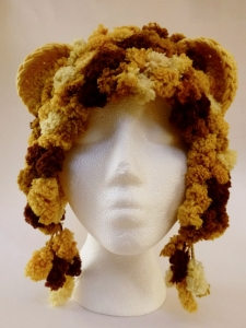 Lion Hat for Halos of Hope, used Zombie Monkey pattern http://www.ravelry.com/patterns/library/zombie-sock-monkey-attacks-hat-with-or-without-earflaps