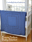 Crochet pattern for baby blanket by Darleen Hopkins, Picture Perfect #CbyDH