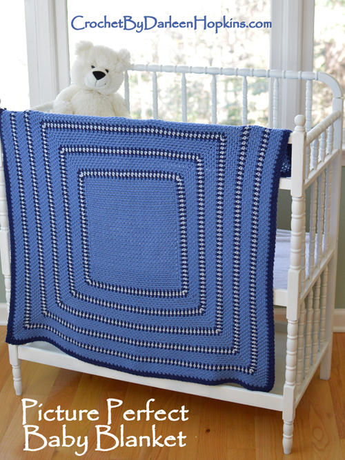 Crochet baby blanket pattern by Darleen Hopkins #CbyDH
