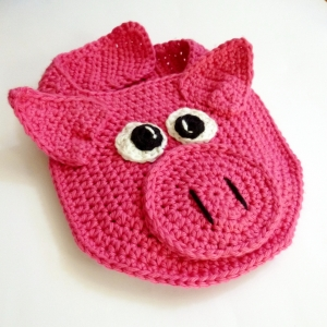 Baby Bib, Piggy for Drool Control http://www.ravelry.com/patterns/library/lil-oinker-drool-bib-spit-burp-pig-or-piglet-crochet