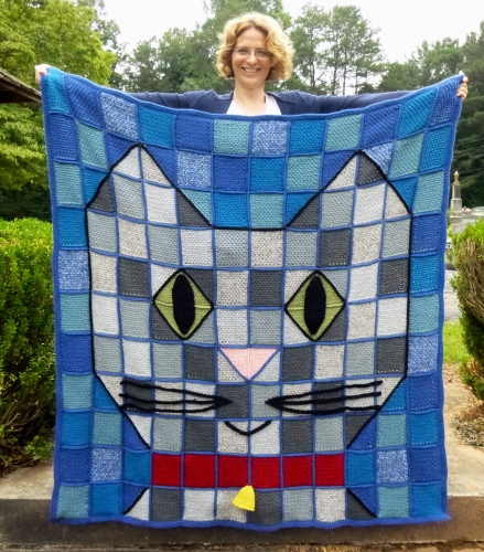 Baby Kitty throw blanket crochet pattern by Darleen Hopkins