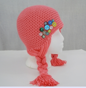 Hair hat for Halos of Hope by Darleen Hopkins http://crochetbydarleenhopkins.com