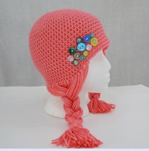 Hair hat for Halos of Hope by Darleen Hopkins http://crochetbydarleenhopkins.com