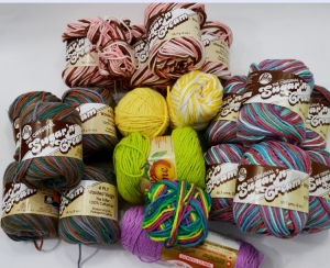 Gifted yarn.  www.cochetbydarleenhopkins.com
