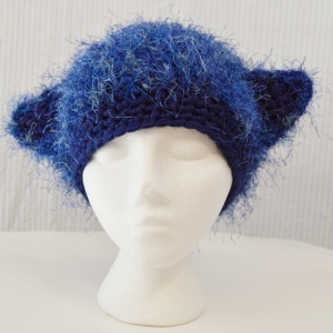 Critter Hat for Halos of Hope, chemo charity crochet hat