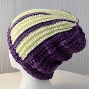 Butterscotch Cream crochet hat made for Halos of Hope