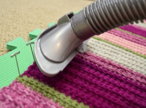 how to block acrylic yarn step 2