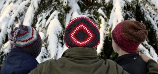 Glacier, Cubed and Bentley Crocheted Hat Patterns