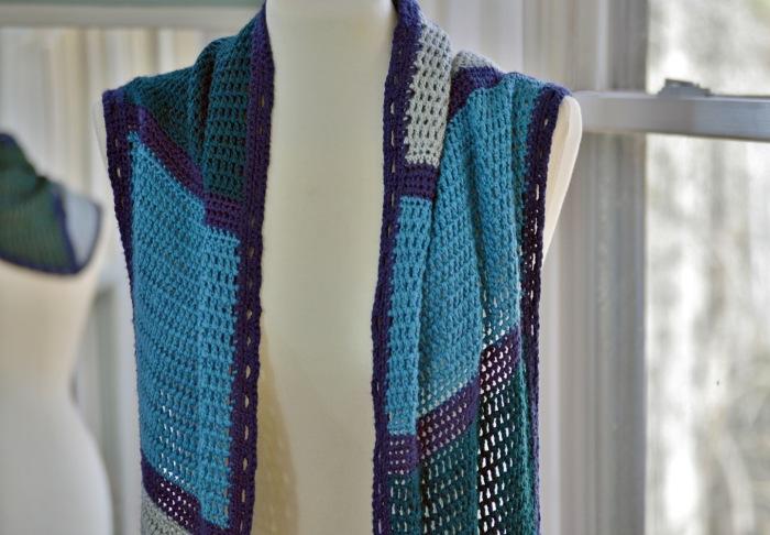 Charmed Shawl Crochet Pattern by Darleen Hopkins