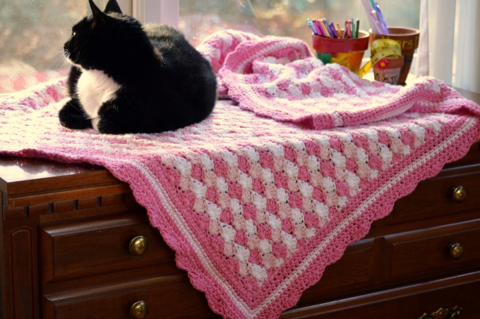 Shells of Love Baby Blanket Crochet Pattern by Darleen Hopkins
