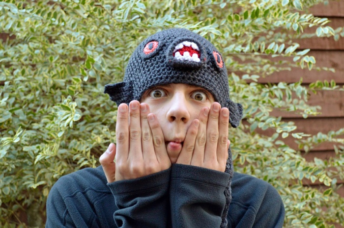Piranha Monster Fish Crochet Hat Pattern by Darleen Hopkins