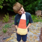 Candy Corn Crochet Pillow, pattern by Darleen Hopkins