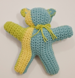 crocheted bear for Team Lewis