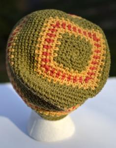 Relaxed Beanie Cubed Hat Crochet, crochet pattern by Darleen Hopkins