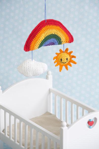 Sunny Days Baby Mobile crochet pattern by Darleen Hopkins #CbyDH