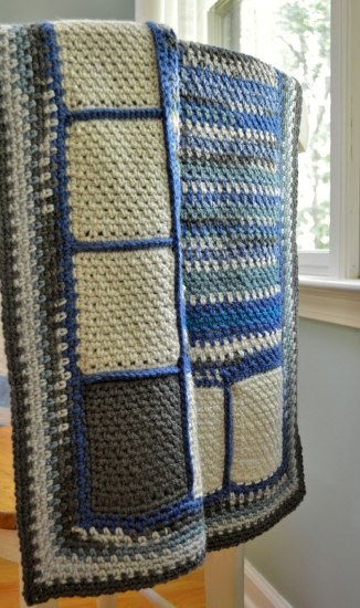 Lapghan crocheted with scraps made for donation #CbyDH