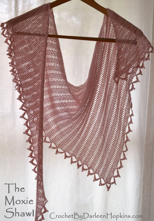 Knit Picks Luminance Moxie Shawl crochet pattern web logo