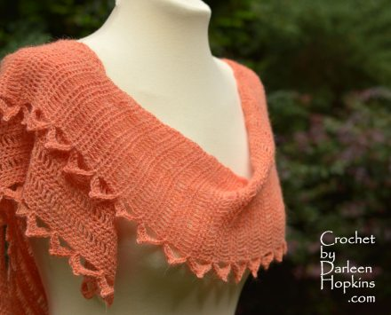 Moxie crocheted shawl pattern by Darleen Hopkins #CbyDH
