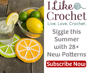 Lemon and Limeaide Coasters crochet pattern by Darleen Hopkins #CbyDH, photo by ILikeCrochet.com
