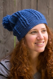Blue Rivers crochet hat pattern by Darleen Hopkins, photo by ILikeCrochet.com