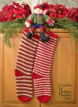 Elf Socks Christmas Stockings crochet pattern by Darleen Hopkins