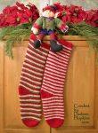 Elf Socks Christmas Stockings crochet pattern by Darleen Hopkins