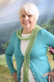 Fresh Air Scarf crochet pattern by Darleen Hopkins August 2016 Photo by ILikeCrochet.com #CbyDH