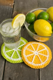 Lime and Lemonade coasters crochet pattern by Darleen Hopkins #CbyDH