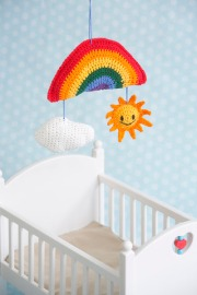 Sunny Days Baby Mobile crochet pattern by Darleen Hopkins #CbyDH