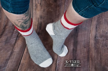 Workman's sock crochet pattern by ACCROchet