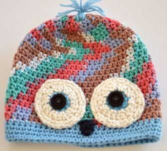 Charity chemo hat crocheted by Darleen Hopkins #CbyDH
