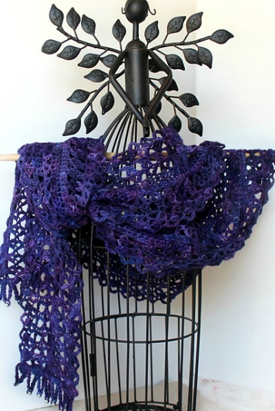 Nacogdoches Night Scarf by Betty Fay Wallace