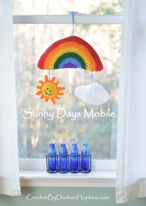 Sunny Days Mobile, perfect baby gift or room decoration for tween or teen or anytime you want a litle sunshine! #CbyDH