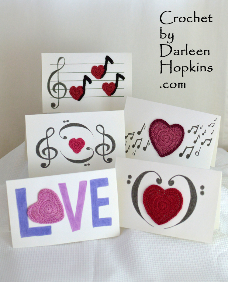Love Notes Mixed Media Valentine S Day Cards Crochet By