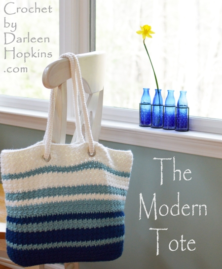 crochet pattern for a bog. The Modern Tote by Darleen Hopkins