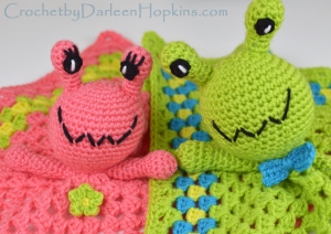alien lovey crochet pattern by Darleen Hopkins #CbyDH