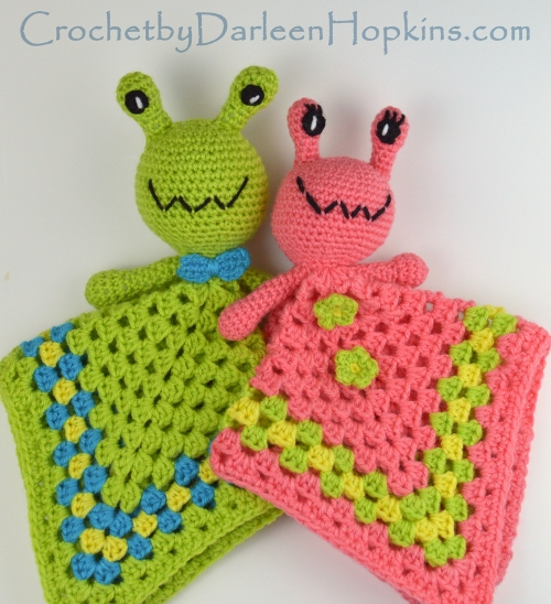 Lovey Arnie And Annie Alien Baby Lovey Crochet By Darleen Hopkins